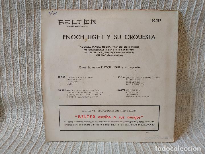 Discos de vinilo: Enoch Light y su Orquesta - Mil Estrellas / Me Enloqueces / Verano (Summertime)+1 Belter 50.287 1960 - Foto 2 - 204376253