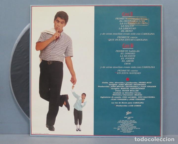 Discos de vinilo: LP. EL DISCO GORDO DE PEDRETE. PEDRO RUIZ - Foto 2 - 204377212