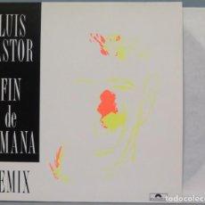 Discos de vinilo: LP. LUIS PASTOR. FIN DE SEMANA. REMIX. Lote 204378991