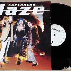 Discos de vinilo: MAXI SINGLE - DAZE - SUPERHERO - HECHO EN DINAMARCA - DAZE - SUPER HERO. Lote 204379211
