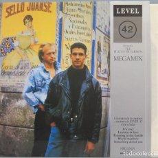 Discos de vinilo: LP. LEVEL 42. MEGAMIX. Lote 204380160