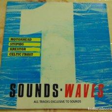 Discos de vinilo: WAVES 1 - MOTORHEAD / STUPIDS / KREATOR / CELTIC FROST - EP 1988. Lote 204380513