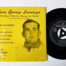 Discos de vinilo: EP: JESUS GARRAZA LARRAINZAR - JOTAS NAVARRAS (COLUMBIA 1959) GRUPO FOLKLÓRICO MUNICIPAL DE ESTELLA. Lote 263135780