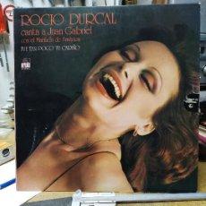 Discos de vinilo: ROCIO DURCAL CANTA A JUAN GABRIEL (EDICION ESPECIAL CIRCULO DE LECTORES) FUE TAN POCO TU CARIÑO. Lote 204393943