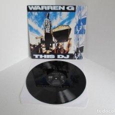 Discos de vinilo: WARREN G / THIS D.J. (UK MIXES) / MAXI 12 UK INGLES / HIP HOP RAP / VINILIO VG++. Lote 204399848