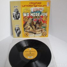 Discos de vinilo: DIGITAL UNDERGROUND / NO NOSE JOB / MAXI 12 UK INGLES / HIP HOP RAP / VINILIO / VG++. Lote 204403052