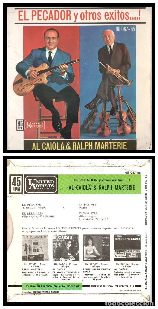 XX AL CAIOLA & RALPH MARTERIE, EL PECADOR Y DEMAS. (Música - Discos - Singles Vinilo - Orquestas)