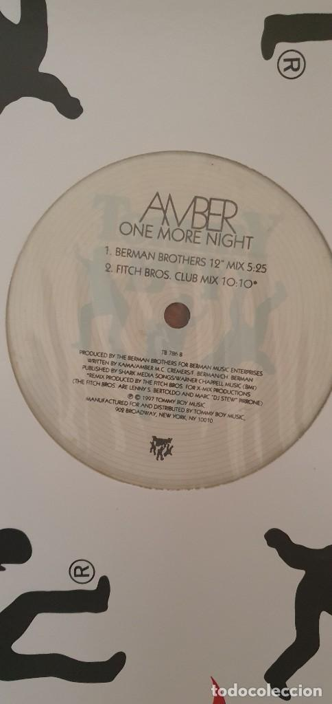 AMBER ‎– ONE MORE NIGHT (REMIXES) SELLO: TOMMY BOY ‎– TB 797 FORMATO: VINYL, 12 , 33 ⅓ RPM PAÍS: US (Música - Discos de Vinilo - Maxi Singles - Techno, Trance y House)