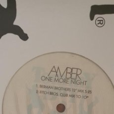 Discos de vinilo: AMBER ‎– ONE MORE NIGHT (REMIXES) SELLO: TOMMY BOY ‎– TB 797 FORMATO: VINYL, 12 , 33 ⅓ RPM PAÍS: US. Lote 204407085