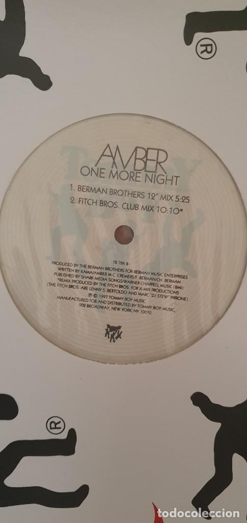Discos de vinilo: Amber ‎– One More Night (Remixes) Sello: Tommy Boy ‎– TB 797 Formato: Vinyl, 12 , 33 ⅓ RPM País: US - Foto 2 - 204407085