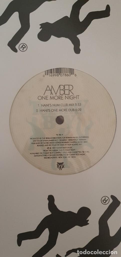 Discos de vinilo: Amber ‎– One More Night (Remixes) Sello: Tommy Boy ‎– TB 797 Formato: Vinyl, 12 , 33 ⅓ RPM País: US - Foto 4 - 204407085