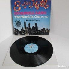Discos de vinilo: SUGARHILL GANG / THE WORD IS OUT / MAXI 12 UK / ALEMANIA / RAP HIP HOP 1980S / VINILIO VG++. Lote 204407993