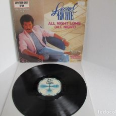 Discos de vinilo: LIONEL RICHIE / ALL NIGHT LONG ( ALL NIGHT) / MAXI 12 UK / ALEMANIA / FUNK POP / VINILIO VG++. Lote 204408397
