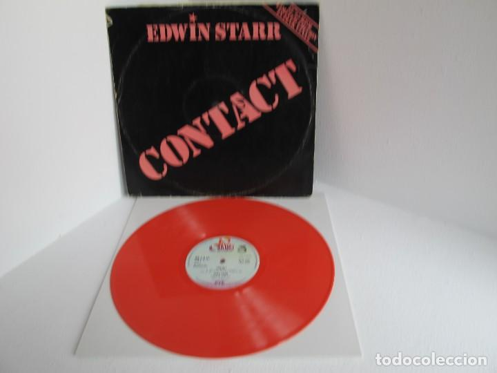 EDWIN STARR / CONTACT / MAXI 12 UK / SOUL FUNK DISCO / RARO LTD VINILIO COLOR ROSA VG++ (Música - Discos de Vinilo - Maxi Singles - Funk, Soul y Black Music)