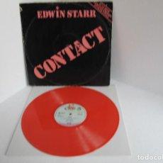 Discos de vinilo: EDWIN STARR / CONTACT / MAXI 12 UK / SOUL FUNK DISCO / RARO LTD VINILIO COLOR ROSA VG++. Lote 204409501