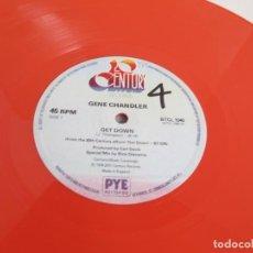 Discos de vinilo: GENE CHANDLER / GET DOWN / MAXI 12 UK / FUNK SOUL DISCO LTD. COLOR ROSA VINILIO / VG++. Lote 204417236