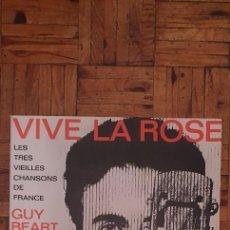 Discos de vinilo: GUY BÉART – VIVE LA ROSE - LES TRÈS VIEILLES CHANSONS DE FRANCE SELLO: DISQUES TEMPOREL – GB 00003. Lote 204422852