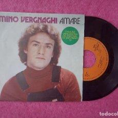 Discos de vinilo: SINGLE MINO VERGNAGHI - AMARE / GRIDA - PRFNNP 16772 F - PORTUGAL PRESS (VG++/EX-) SAN REMO 79. Lote 204424178