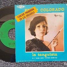 Discos de vinilo: PILAR COLORADO - CASTAÑAS CALIENTES / LA TANGUISTA. CANCIÓN PROHIBIDA EN EMISORAS. AÑO 1.978. Lote 204435073