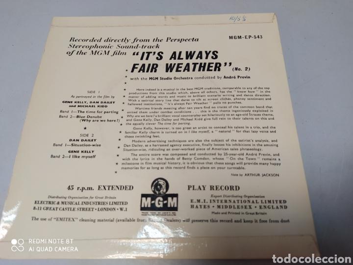 Discos de vinilo: ITS ALWAYS FAIR WEATHER - GENE KELLY - EP BANDA SONORA MGM GREAT BRITAIN - Buen estado - Foto 2 - 204441956