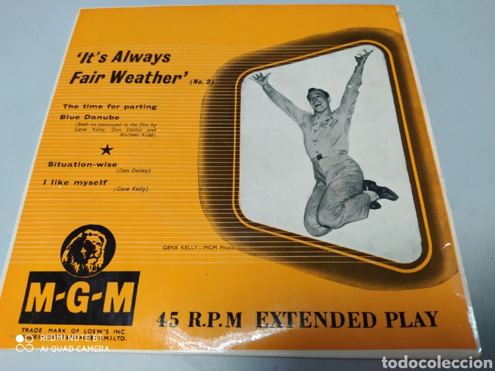 IT'S ALWAYS FAIR WEATHER - GENE KELLY - EP BANDA SONORA MGM GREAT BRITAIN - BUEN ESTADO (Música - Discos de Vinilo - EPs - Bandas Sonoras y Actores)