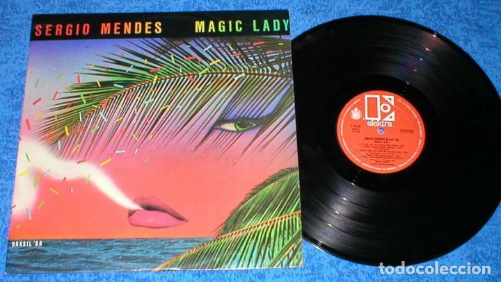 SERGIO MENDES & BRASIL 88 SPAIN LP MAGIC LADY ORIGINAL 1979 LATIN FUNK SOUL DISCO BUEN ESTADO !! (Música - Discos - LP Vinilo - Grupos y Solistas de latinoamérica)