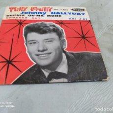 Discos de vinilo: JOHNNY HALLYDAY TUTTI FRUTTI +3 VOGUE FRANCIA. Lote 204457970