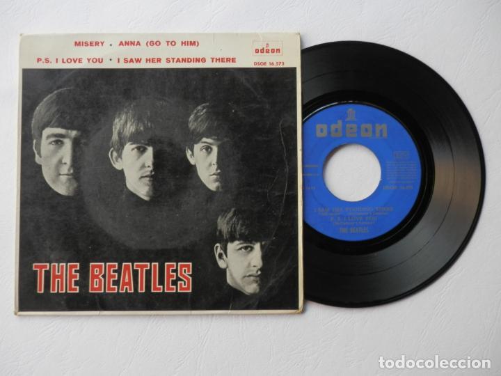 THE BEATLES - EP - ODEON DSOE 16.573 - MISERY + 3 - VER FOTOS Y DESCRIPCION (Música - Discos de Vinilo - EPs - Pop - Rock Extranjero de los 50 y 60)