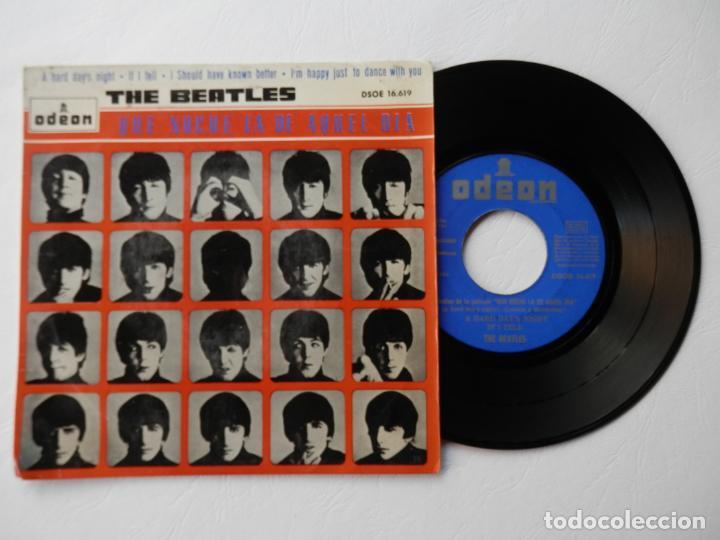 THE BEATLES - EP - ODEON DSOE 16.619 - A HARD DAYS NIGHT + 3 - VER FOTOS Y DESCRIPCION (Música - Discos de Vinilo - EPs - Pop - Rock Extranjero de los 50 y 60)
