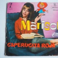Discos de vinilo: MARISOL EP CAPERUCITA ROJA MÚSICA Y CUENTO (ZAFIRO-MONTILLA, EPFM-230-1962) VINILO DE COLORINES. Lote 204471945
