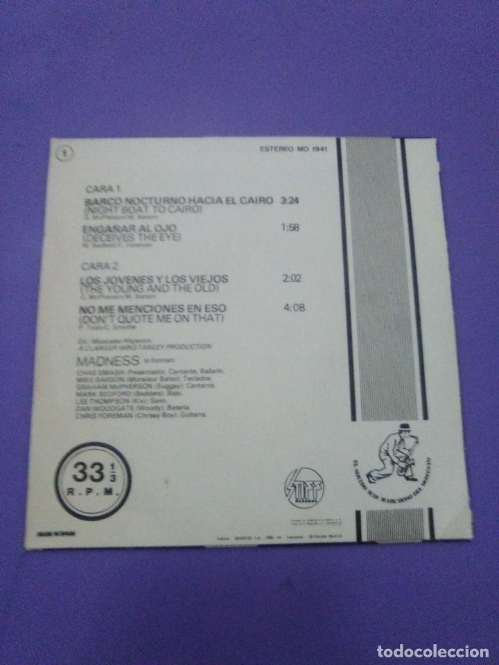 Discos de vinilo: JOYA SKA EP. MADNESS.BARCO NOCTURNO HACIA EL CAIRO/ENGAÑAR AL OJO + 2. SELLO STIFF MO 1941 - 1980 - Foto 6 - 204473075