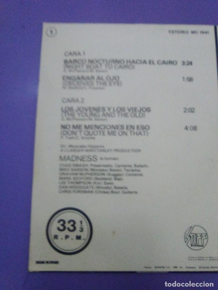 Discos de vinilo: JOYA SKA EP. MADNESS.BARCO NOCTURNO HACIA EL CAIRO/ENGAÑAR AL OJO + 2. SELLO STIFF MO 1941 - 1980 - Foto 7 - 204473075