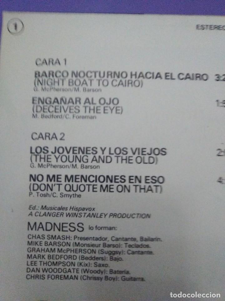Discos de vinilo: JOYA SKA EP. MADNESS.BARCO NOCTURNO HACIA EL CAIRO/ENGAÑAR AL OJO + 2. SELLO STIFF MO 1941 - 1980 - Foto 9 - 204473075