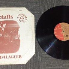 Discos de vinilo: MARIO BALAGUER - RETALLS - MAXI - SPAIN - EMI - L -. Lote 204476523