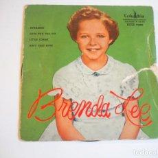 Discos de vinilo: LOTE BRENDA LEE 3 EPS BRUNSWIK 1959, 1960, 1961 ROCK & ROLL OPORTUNIDAD. Lote 204478940
