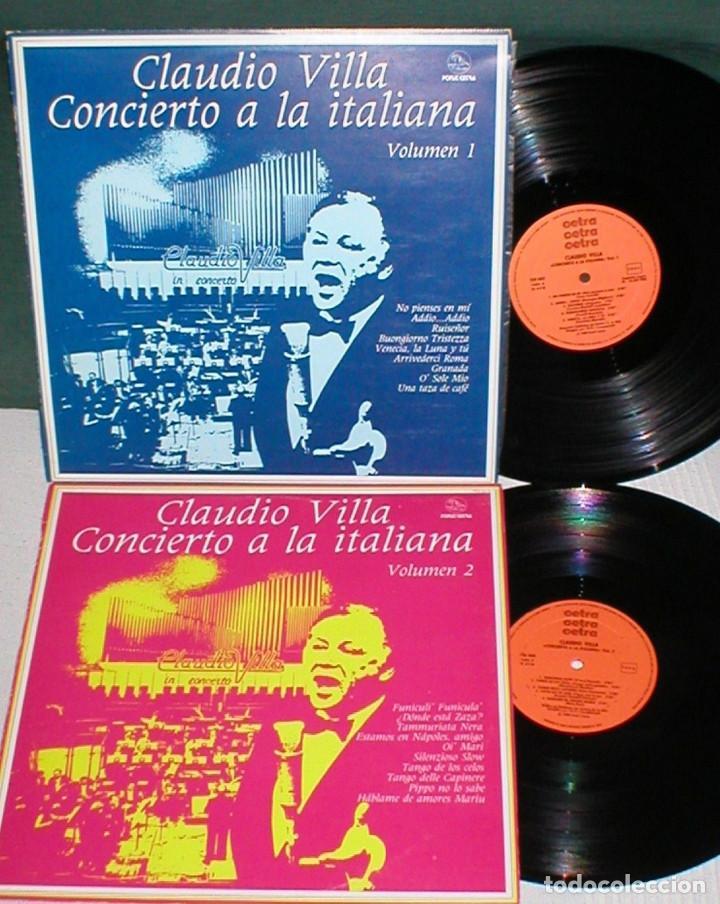 CLAUDIO VILLA LOTE 2 LPS SPAIN 1980 CONCIERTO A LA ITALIANA VOL 1 & 2 RAROS LATIN POP VOCAL FOLK EX (Música - Discos - LP Vinilo - Canción Francesa e Italiana)