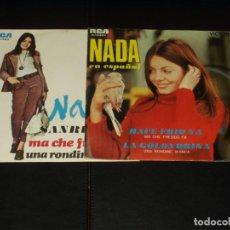 Discos de vinilo: LOTE 2 SINGLES NADA MA CHE FREDDO FA ESPAÑOL E ITALIANO. Lote 204500427