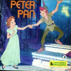 Discos de vinilo: PETER PAN (DISCO LIBRO BRUGUERA Nº 2) EP 1968. Lote 204506366