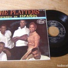 Discos de vinilo: VINILO DE THE PLATTERS. CANTANDO EN ESPAÑOL. SIBONEY.... Lote 204514125