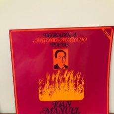 Discos de vinilo: DISCO LP JOAN MANUEL SERRAT , DEDICADO A ANTONIO MACHADO POETA, NOVOLA NLX 1015S. Lote 204522565