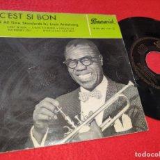 Discos de vinilo: LOUIS ARMSTRONG C'EST SI BON/BLUEBERRY HILL/THAT LUCKY OLD SUN +1 EP 1959 BRUNSWICK ESPAÑA SPAIN. Lote 204525545