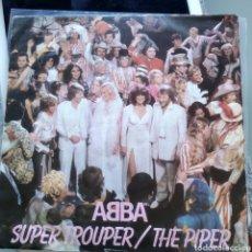 Disques de vinyle: ABBA - SUPER TROUPER / THE PIPER (EPIC - EPC 9089, UK, 1980). Lote 204534498