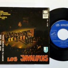 Discos de vinilo: LOS JAVALOYAS: TODO MURIÓ SIN TU AMOR + VUELO 502 + MARGARITA + 1 (EP 1966) III FESTIVAL DE MALLORCA. Lote 204542155