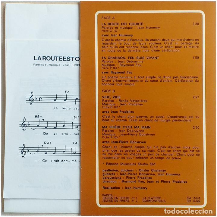 Discos de vinilo: VVAA - Routes Chantantes (Jeunes En Prière, 3) - Ep France 1976 - Editions Studio S.M. SM 17-652 - Foto 3 - 204546445