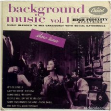 Discos de vinilo: VVAA - BACKGROUND MUSIC, SHOW TUNES VOL. 1 - 2 EP US - CAPITOL RECORDS ‎EBF 378. Lote 204548125