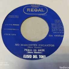 Discos de vinilo: ELISEO DEL TORO. TIERNAS MIRADITAS / TU NEGRITO SERAFÍN. EP 1964. GENERICO. Lote 204589680