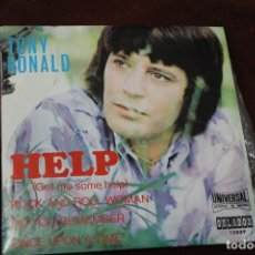 Discos de vinilo: TONY RONALD, SINGLE, HELP, ROCK AND ROLL WOMAN, UNIVERSAL. Lote 204600055