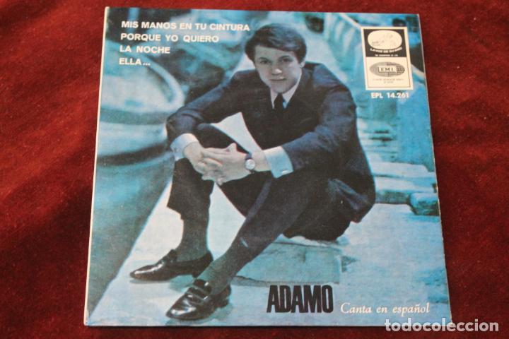 ADAMO CANTA EN ESPAÑOL, SINGLE, MIS MANOS EN TU CINTURA, EMI, 1966 (Música - Discos - Singles Vinilo - Canción Francesa e Italiana)