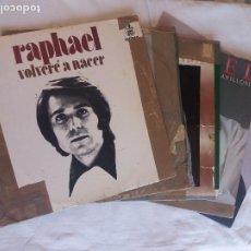 Discos de vinilo: RAPHAEL LOTE DE 14 LP DISCOS MUY USADOS. Lote 204602038