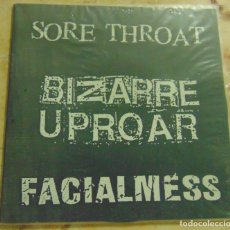 Discos de vinilo: SORE THROAT / BIZARRE UPROAR / FACIALMESS – COLLABORATION EP - CANADA ELECTRONIC NOISE -. Lote 204604151